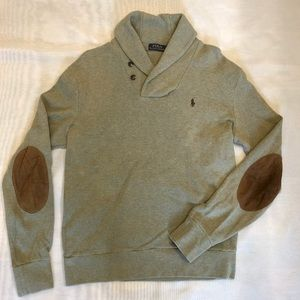 Polo Men's Cotton Sweater with Elbow Patches